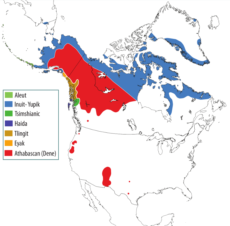 Indigenous Peoples And Languages Of Alaska - Map of us and canada indiginous popullationns